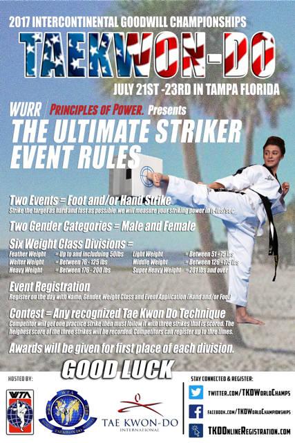 2017 Intercontinental Goodwill Championship Ultimate Striker Rules